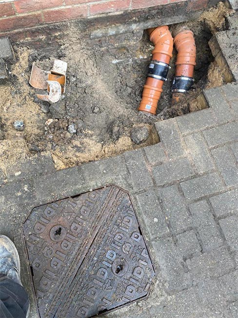 Capital Drainage drain split due to subsidence after